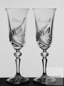 Gravírozott poharak