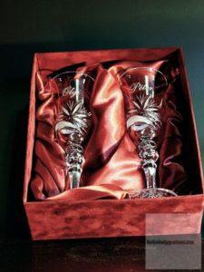 Esküvőre ajánlott kristálypoharak