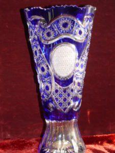 Kék kristályváza